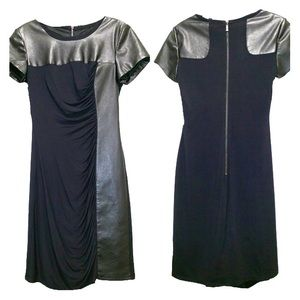 Laundry by Shelli Segal Black Dress with Leather